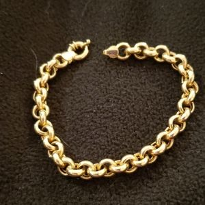 Jewelry - 14k yellow gold Large Circle Link Bracelet